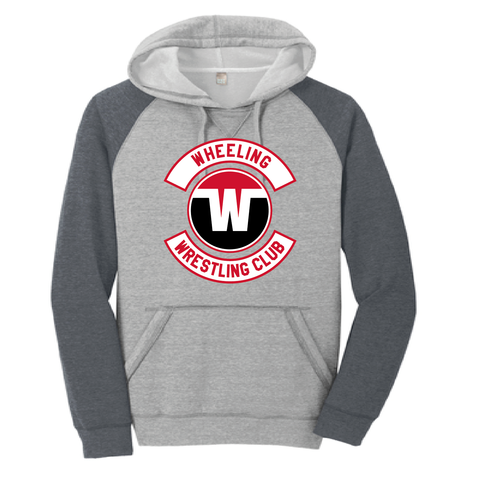 Wheeling Wrestling Club Wrestling Poly-Cotton Fleece Pullover Hoodie Digital Black