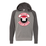 Wheeling Wrestling Club Independent Trading Co. Youth Blend Raglan Hooded Sweatshirt