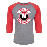 Wheeling Wrestling Club Wrestling Unisex Tri-Blend 3/4 Sleeve Raglan - Youth
