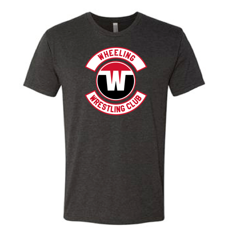 Wheeling Wrestling Club Wrestling Adult Tri-Blend Tee - Black