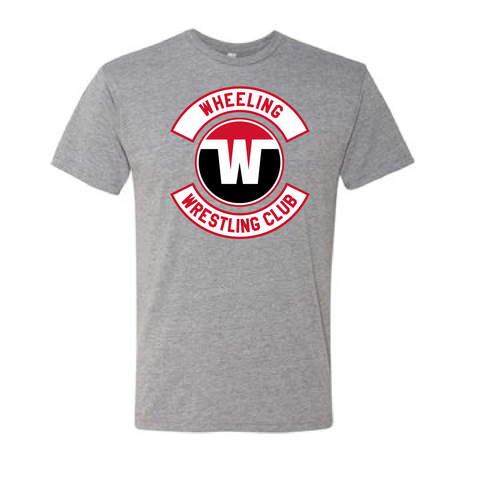 Wheeling Wrestling Club Wrestling Youth Tri-Blend Tee-Gray