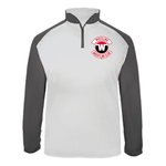 Wheeling Wrestling Club Wrestling Ultimate SoftLock™ Sport Quarter-Zip Pullover - White_Gray