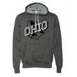Retro OHIO White - PULLOVER HOODIE - Dark Gray