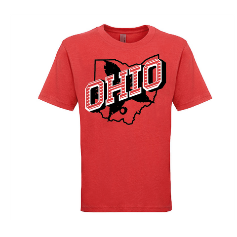Retro Ohio YOUTH TRI-BLEND TEE - Red