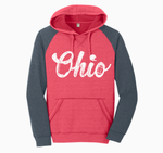 STB Scripted Ohio Football Hoodie Red and Gray