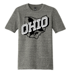 Retro Ohio White - TEE - Cosmic Gray