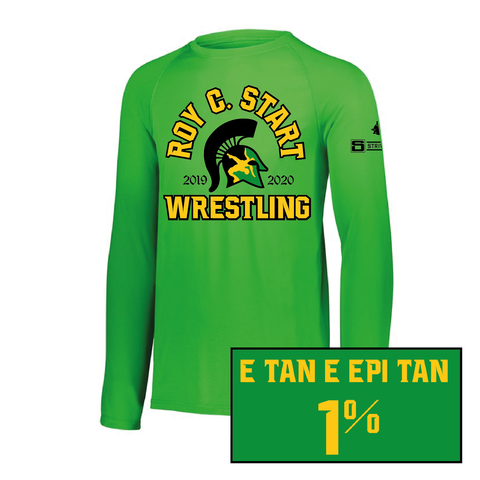 Start Spartan Wrestling-Attain Wicking Long Sleeve Tee