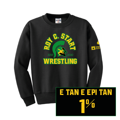 Start Spartan Wrestling-NuBlend Crewneck Sweatshirt-Youth
