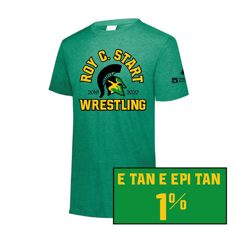 Start Spartan Wrestling - Augusta Tri Blend - Adult