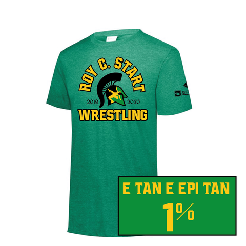 Start Spartan Wrestling - Augusta Tri Blend - Youth