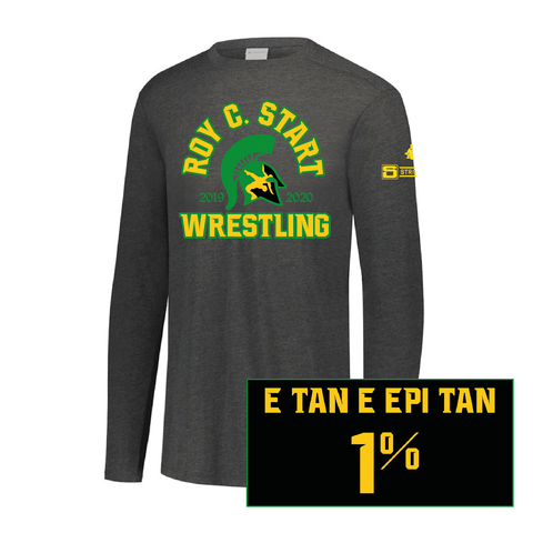 Start Spartan Wrestling-Tri-Blend Long Sleeve Crew-Tri-Blend Long Sleeve Crew