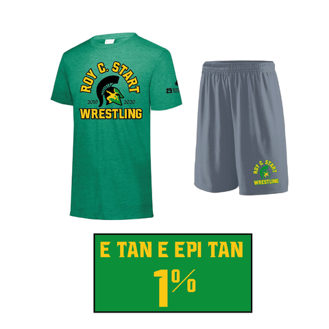 Spartan Wrestling Triblend Tee Practice Gear Set- Youth