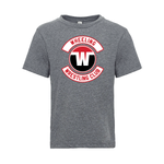 Wheeling Wrestling Club Wrestling Logo Adult Tri-Blend Tee - Gray