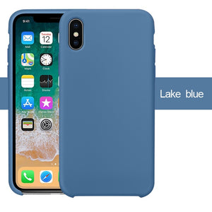 Silicone iPhone Case X, XS, XR,  7 6 6S 8 Plus 5S