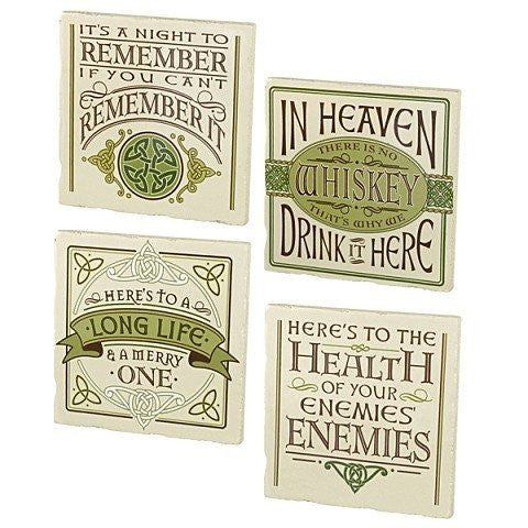 Celtic Sayings Message Coaster Set of 4
