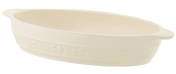 Belleek Galway Weave 'Tree of Life' Oval Roasting Dish