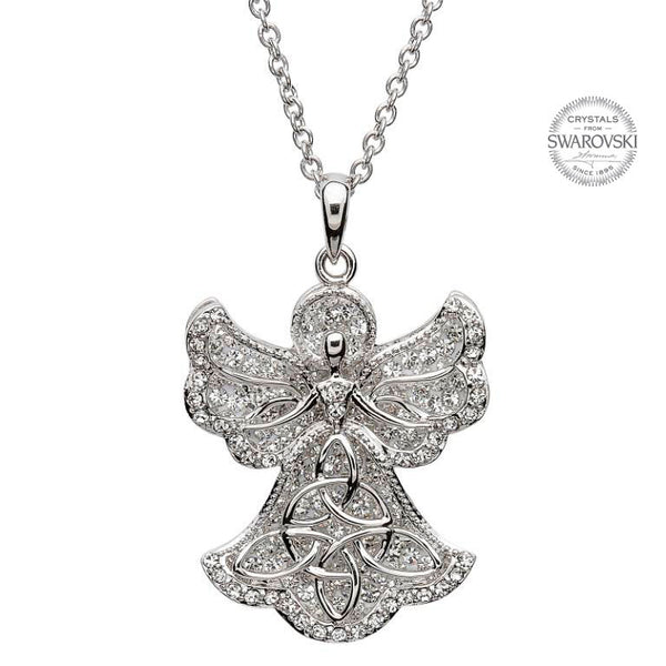 ANGEL PENDANT WITH SWAROVSKI CRYSTALS