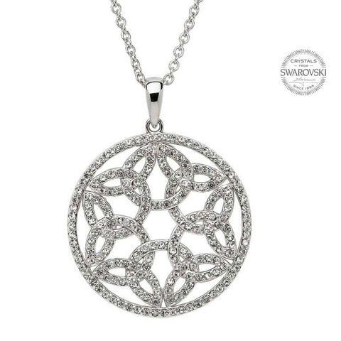 TRINITY CIRCLE PENDANT WITH SWAROVSKI CRYSTALS