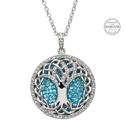 TREE OF LIFE PENDANT ADORNED BY SWAROVSKI CRYSTALS