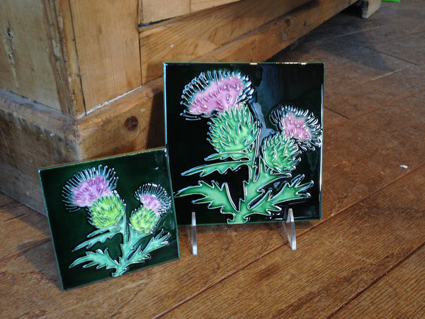 Thistle Hand Painted Ceramic Tile
