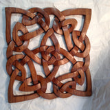 Hand Carved Square Celtic Wall Plaque