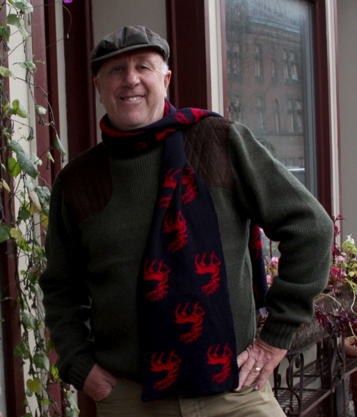 McCarthy's Red Stag Scarf in Merino Wool