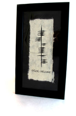 Ogham Framed Print - Single Saying