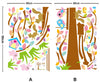 Squirrel & Colourful Tree Wall Decal