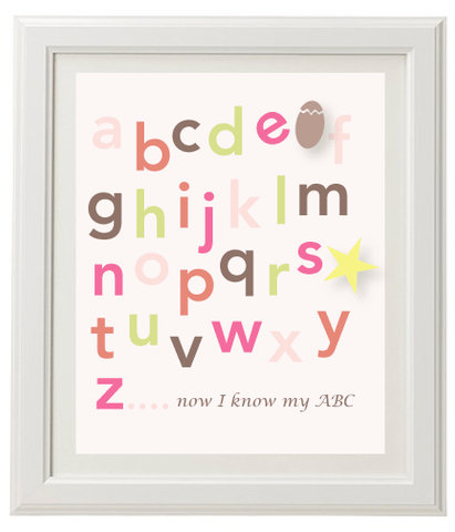 Alphabet Wall Print - Girls
