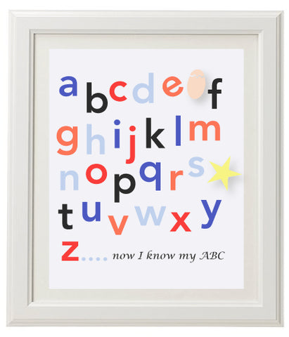 Alphabet Wall Print - Boys
