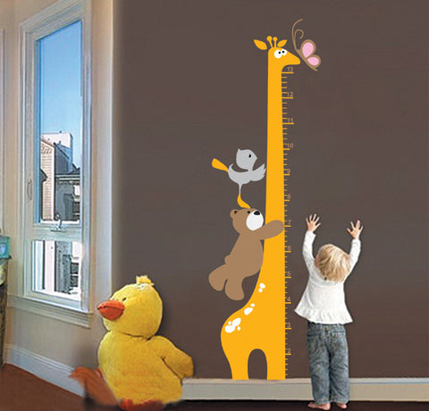 Animal Growth Height Chart Wall Decal (Large)