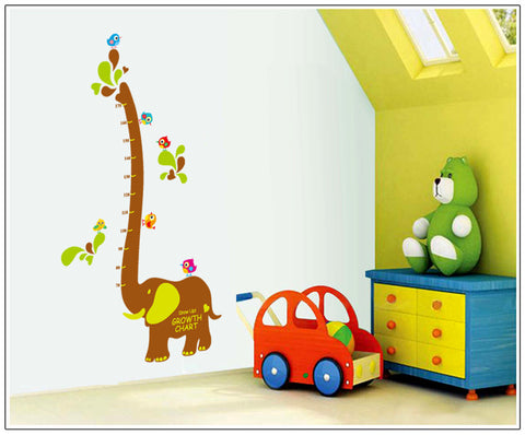 Elephant Growth Height Chart Wall Decal