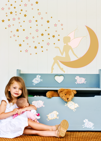 Moonlit Starry Fairy Wall Decal
