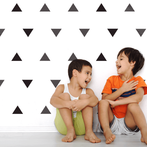 Triangles, Black & Stripes Wall Decal