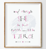 She be Fierce Wall Print