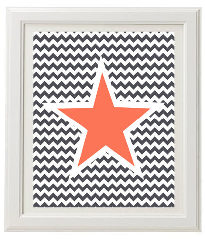 Wavey Star Wall Print