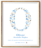 Boys Personalised Birth Print