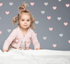 Hearts, Pink & Grey Wall Decal