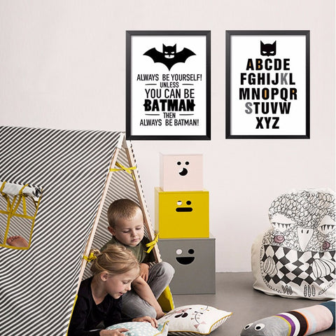 Batman Superhero Canvas Art Print Poster