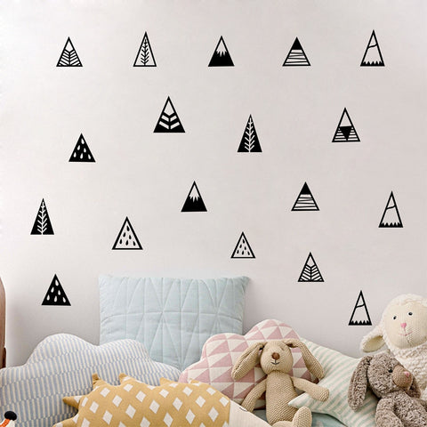 Nordic Style Mountains Wall Sticker Home Decor Kids Bedroom Wall Decals Part 47
