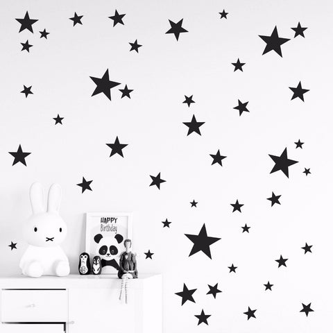 Stars wall stickers, customise colours available