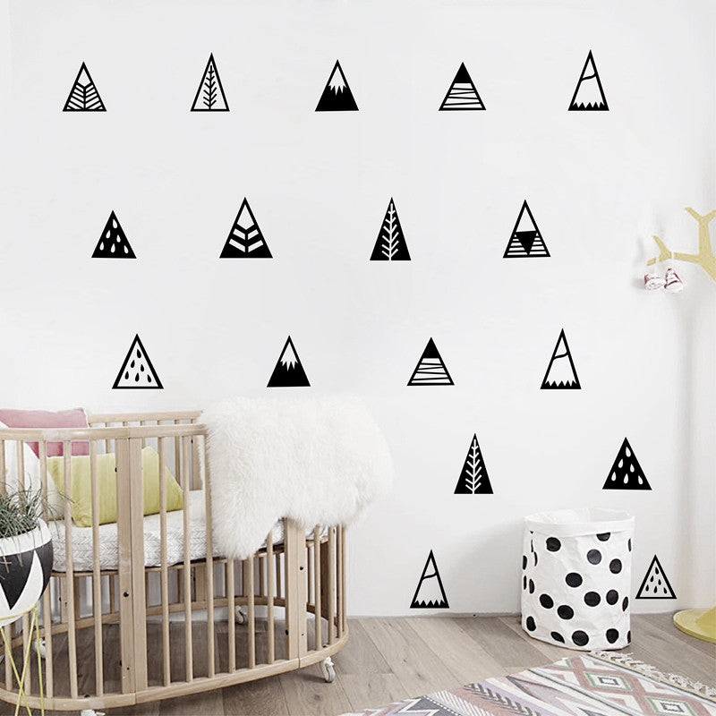 Nordic Style Mountains Wall Sticker Home Decor Kids Bedroom Wall