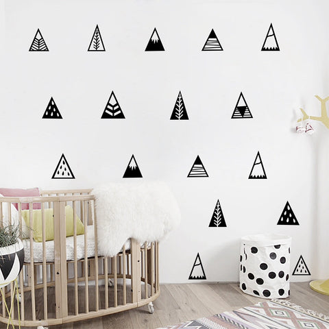 Nordic style Mountains Wall Sticker Home Decor Kids Bedroom Wall Decals
