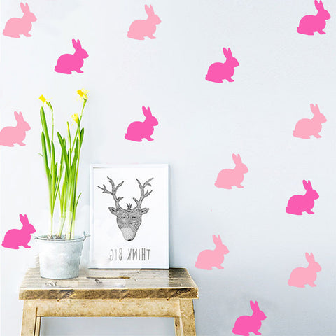 Nordic Style Cartoon Rabbit Wall Sticker Home Decor