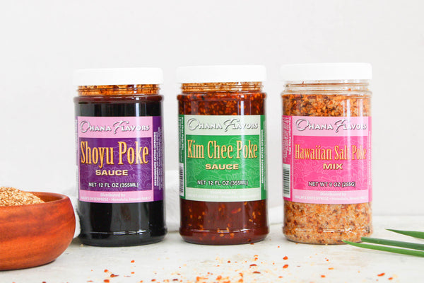 Poke Favorites Trio - 3 Bottles of 12 oz Sauces/Spices