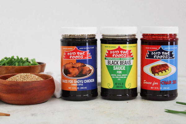 Mid Pac Foods Trio of Sauces - 3 Bottles of 12 oz Sauces