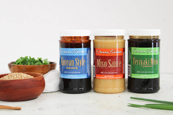Ohana Blends Favorites Trio of Sauces - 3 Bottles of 12 oz Sauces