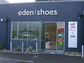 Eden Shoes retail store at 110 Mt Eden Road in Auckland
