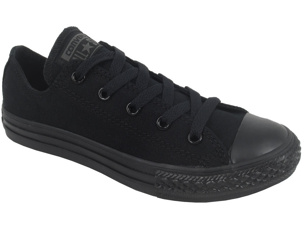 Youths Chuck Taylor All Star Monochrome Ox - Black