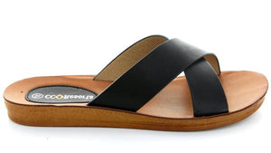 Veera Cross Over Sandals - Black